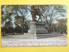 CPA Old Postcard USA NEW YORK Central Park STATUE of GENERAL SHERMAN Sécession