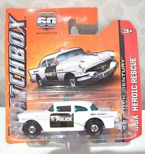 MATCHBOX car 60TH ANNIV 56 Buick Century 2012 MBX Heroic Rescue/ Police NEW