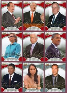 2009 Upper Deck Prominent Cuts Trading Cards SEE LIST