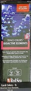 Red Sea Coral Colors D 500ml Bioactive Mineral BluePurple Reef Colour Supplement