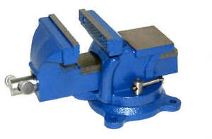 "4"" Bench Vise with Anvil Swivel Locking Base Table top Clamp Heavy Duty Vice"
