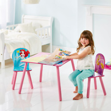 Disney Princess Wooden Table and 2 Chair Set For Kids Toddler Play Study Time