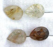ONE 16x12 16mm x 12mm Pear Golden Rutilated Quartz Gemstone Gem Stone EBS7184