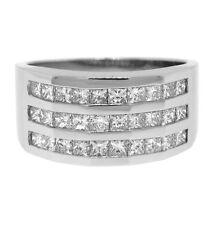 1.75ctw MENS PRINCESS CUT DIAMOND RING 14K WHITE GOLD