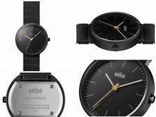 Braun Men's Quartz Watch with Analogue Display and Ceramic Strap Black