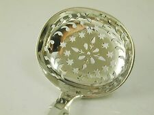 Antique Exeter sugar sifter spoon ladle sterling silver 1870 Josiah Williams