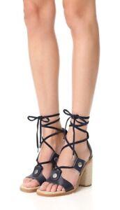 Rag & Bone New York Women's NIB Navy Eden Lace Up Heel Sandal Size US8.5/EU38.5