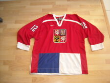 VINTAGE 1998 NIKE CZECH REPUBLIC NATIONAL HOCKEY #12 JERSEY RED WHITE BLUE XL
