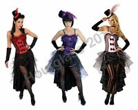 Burlesque Moulin Rouge Fancy Dress Can-Can Dancer Costume Outfit
