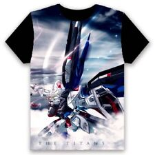 Anime Gundam Cosplay Print T-shirt Short Sleeve Round Collar Unisex TEE #T675