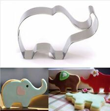 ELEFANTE IN ACCIAIO INOX Cookie Biscotto Cutter Mold fondant Baking Pasticceria UK