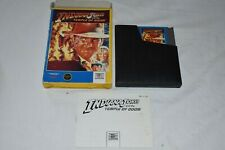 1988 NINTENDO NES INDIANA JONES Temple of Doom GAME CARTRIDGE CART in Box