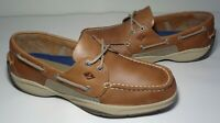 Sperry Top Sider Size 10 M INTREPID Tan Leather New Men's Boat Shoes