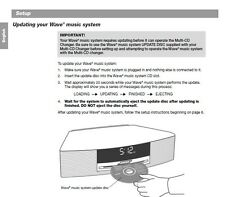 UPDATE DISC FOR THE BOSE WAVE 3CD CHANGER-- REPRODUCED WITH UPDATE INSTRUCTIONS