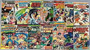 set of 14 MARVEL Bronze Age Comics in low grade AVENGERS, CONAN, HULK, DAZZLER