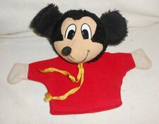 Vintage Pedigree - Mickey Mouse Hand Puppet  - 9 Inch Plush Toy  -    (3a)
