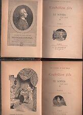 CREBILLON FILS LE SOPHA CONTE MORAL 2 VOLUMES ILLUS. MILIO 1890 CURIOSA EROTICA