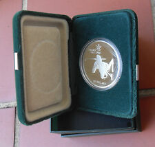 1988 CANADA $20 SILVER PROOF COIN(CALGARY OLYMPIC GAMES-BIATHLON