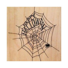 Penny Black Halloween Web Red Rubber Wood Stamp Spooky Spider Haunted Holiday