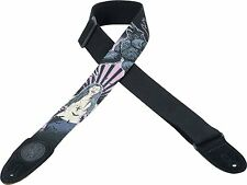 "LEVY'S MSSC8V-005  2"" WIDE COTTON GUITAR STRAP WITH PRINTED VAMPIRE DESIGN"