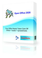 Open Office 2020 Unlimited Word Processor Publish Slides Math Documents Design