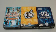 LOT 3 THE SIMS PC CD ROM GAME VACATION DELUXE EDITION MAKIN MAGIC EXPANSION PACK
