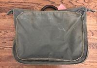 VINTAGE 1950s USGI AIR FORCE B-4 Officer's Garment Bag Flyer's Garment Bag