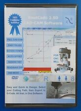 RoutCad 2.5D CAD-CAM Software 1-design part  2-define path  3-export g-code