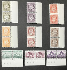 Norway 1979 #709-717 Mnh Pairs