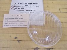 NOS Vintage Cushman Motor Scooter Headlight Light Lens