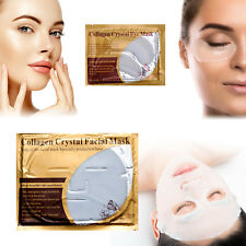 White Collagen Nourishing Face Mask Wrinkle Tired Crow Feet Puffy Eye Treatment