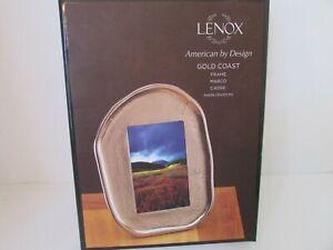 LENOX AMERICAN BY DESIGN GOLD COAST FRAME 4 X 6 NIB NUGGET STYLE