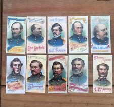 More details for vintage cigarette cards. generals of the american civil war. 21-30. 1996.