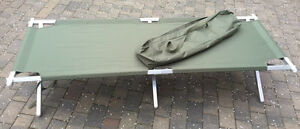 NEW Genuine British Army Heavy Duty Aluminium Frame Folding Camp Bed upto 150kg!