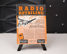 New ListingRadio Retailing Magazines For 1937, Two Issues. Good Condition