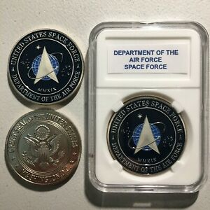 Beautiful United States U.S. SPACE FORCE Dept  Air Force Trump Challenge Coin 20