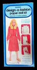 Un-Cut Barbie Design a Fashion Paper Doll Kit, Mattel, 1979