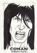 Conan Art of the Hyborian Age Darren Auck SketchaFEX Sketch Card a