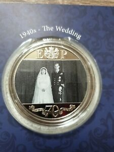 London Mint Coin - Queen's Platinum Wedding Anniversary pack with 1 coin