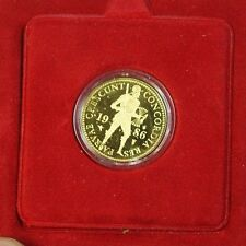 1986 Netherlands Proof Gold Ducat Coin 1586 Design .983 Fine 3,494 Grains W Case