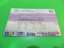 Celtic FC V Dundee UTD FC 16-3-2002 SPL Ticket