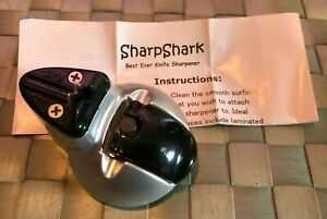 Sharp Shark Knife Sharpener Silver, with Box & Instructions, Never Used