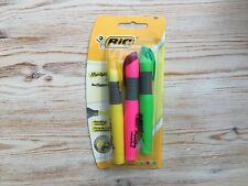 BiC Brite Liner XL Highlighter Marking Pens | 3 Pack | Fluorescent Colours x 3