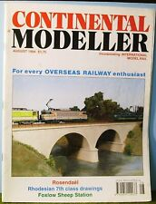 Railway magazine ~  CONTINENTAL MODELLER ~ August 1994 edition