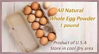 Powdered Eggs 1.LBS(16 OZ)*Temper Proof 7mil Mylar Bag*MRE*Emergency Food*