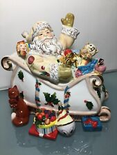 Waterford Holidays Heirlooms Santa Claus Christmas Holiday Georgian Candy Jar