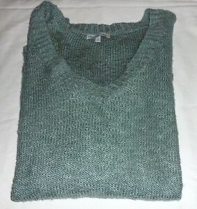 Charlotte Russe V-Neck Sweater Green Long Sleeve Hi Low Plus Size 1X