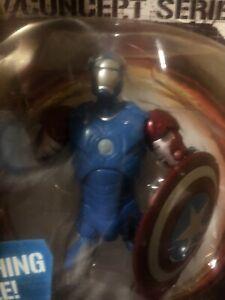 "Marvel Iron Man Captain America Armor Concept Series 6"" Action Figure Hasbro"