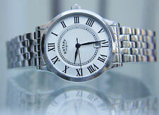 Mens Rotary watch Slim Stainless steel Easy to read RRP £180 Boxed UK Seller