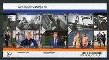 Netherlands 2017 MNH King Willem-Alexander 50th Anniv 6v M/S Royalty Stamps